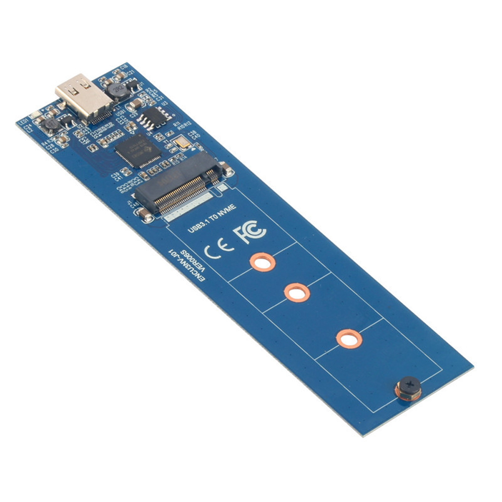 M2 NVMe to USB 3.1 Adapter PCI-E M.2 NVMe M key SSD to USB3.1 Type-C 10Gbps Converter Board with Enclosure Case