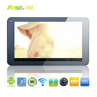 "Factory wholsale 7"" Dual core Android 4.2 hdmi cover tablet 7 inch V88."