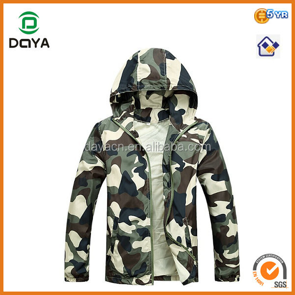 Fashion men's nylon camo jacket