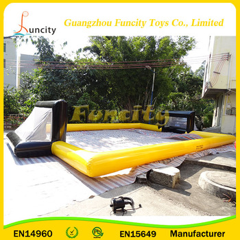 customized lato 0.6mm or 0.9mm PVC tarpaulin outdoor football inflatable games