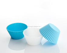 Diameter 7cm round silicone cupcake mould food grade cake baking cup homemade oven cupcake liner for promotion
