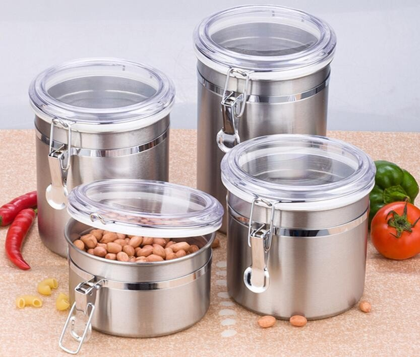 Airtight Coffee Canister Vacuum Sealed Canister Stainless Steel Storage Container for Coffee