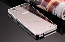 Luxury Aluminum Metal Bumper Mirror Back Case Covers for Gionee F103