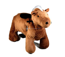 MZ5918 children ride on electric plush toy scooter walking horse coin operated kiddie animal rider for sale
