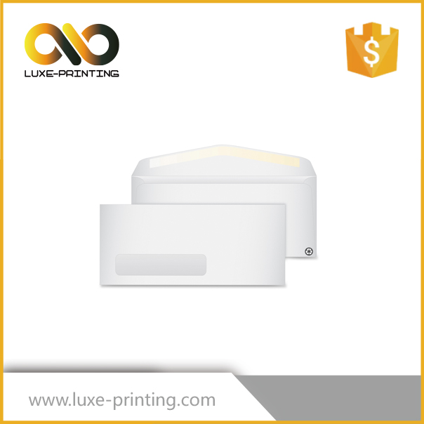print logo white paper envelope with window
