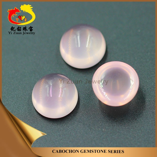 Factory price natural raw big size round shaped cabochon rose quartz
