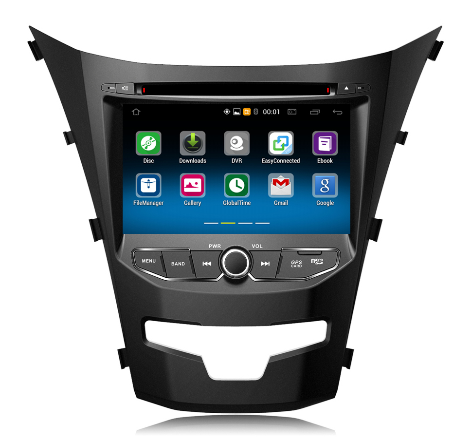 Android 6.0 Car DVD Player for 2013 Ssangyong Korando car stereo multimedia GPS navigation system with Mirror link, Wifi