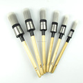 LARY Netherland Top Class Wooden Handle Round Paint Brushes With Black Rope