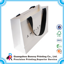 Craft paper printed custom made foldable shopping bag