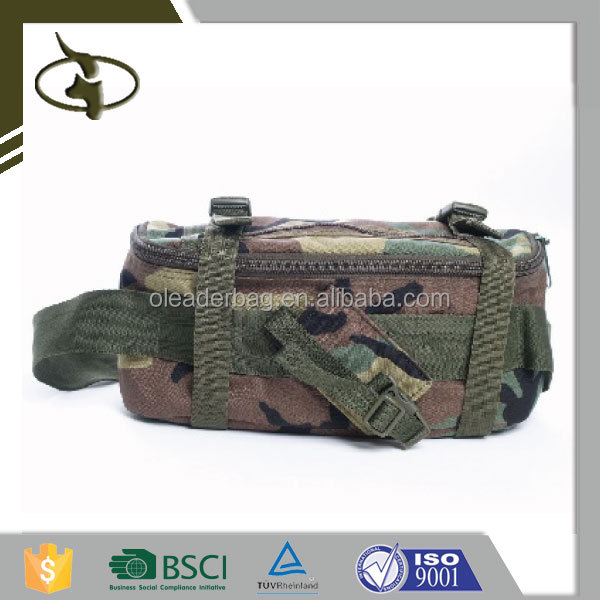 Wholesale New Design High Quality Military Army Camouflage Cotton Bag Camo Canvas Sport Military Waist Bag