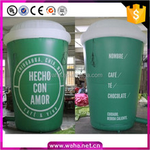 5m/16ft Green Coffee Cup Inflatable For Advertising Coffee Cup Replica W10561