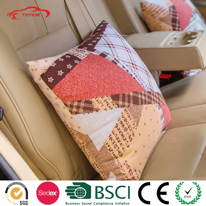 Conform to Back Curve Lumbar Back Support Car Pillow, Custom Fabric Color Memory Feature Car Seat Back Cushioning Throw Pillow