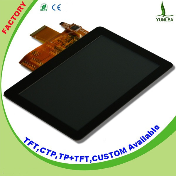 Small pos touch screen 5 inch lcd panel with LCD+CTP