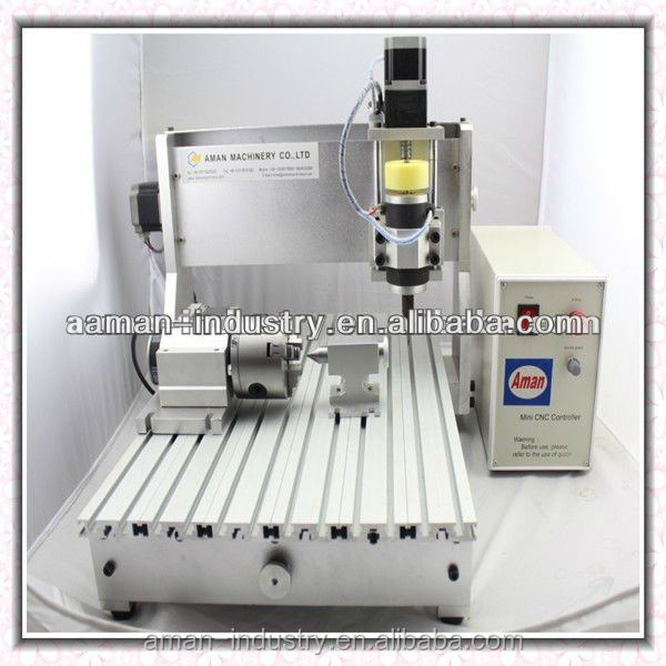 2016 Hot sale Aman Minni CNC engraving machine with 4axis for 3d caving