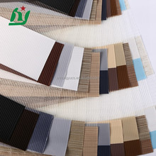 textile material fabric, sunscreen cheap price wholesale zebra blind polyester organza fabric stock lot