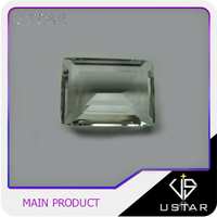 Clear Crystal Emerald Cut Glass Gems for Jewelry Making