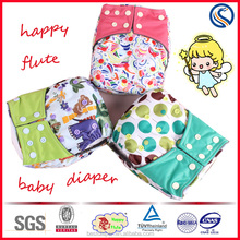 Happy flute color hot angel baby like bird reusable washable one size fits all cloth diaper