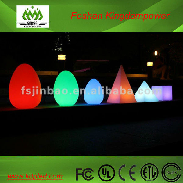 rechargeable waterproof wireless outdoor LED Egg Shape Lamp