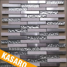 Stainless Steel Mix Glass Mosaic Tile, Backsplash Kitchen Mosaic, Mosaic Bathroom Floor Tiles (KSL-201325)