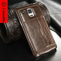 Caseme Hot Selling original Leather For Samsung galaxy 4 Case,For Samsung galaxy note 4 flip leather cover