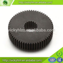 Custom gears with material Black POM, plastic, steel