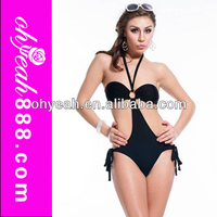Unique design wholesale fashion sexy one piece thong swimwear in 2014