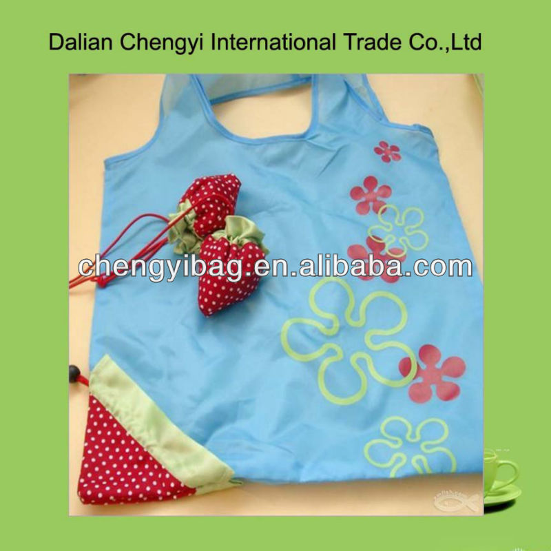 Beautiful Small Flower Printing Folding Shopping Bag
