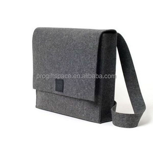 high quality new fashion custom polyester felt 19 inch mens business laptop bag computer sleeve manufacturer in China