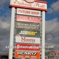 Customized Freestanding Pylon Signs For Gas