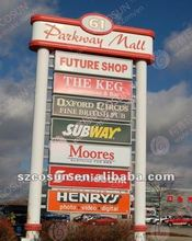Customized Freestanding Pylon signs for gas station or big mall