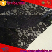 best selling rosette styilsh mettalic black net rachel lace fabric for fashionable clothings