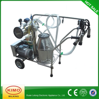 KIMO Newest Small Vacuum Pump Movable Dairy Goat Milking Machine For Sale