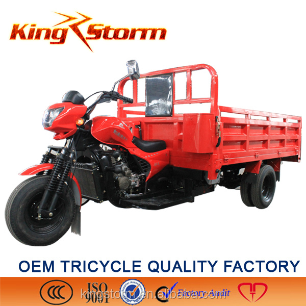 China new design heavy load 300cc water cooling pedal tricycle lifan cargo tricycle