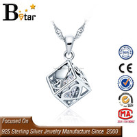 Pretty 925 sterling silver with rhodium plated cute magic cube pendant, gymnastics pendant