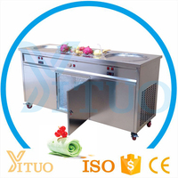 Pan Ice Cream Machine / Commercial Fried Ice Cream Machine Price / Flake Ice Cream Roll Machine