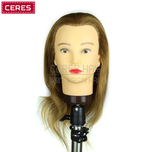Salon Natural female 100% Human Hair Mannequin Doll Training Head Practice Head Wholesale