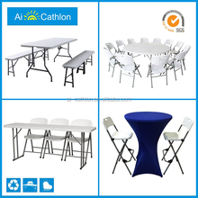 banquet round foldable tables chairs,rental used cheap restaurant folding tables chairs