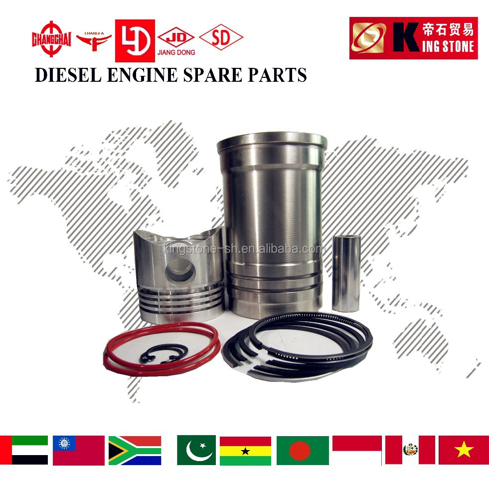 SMALL TRACTOR PARTS single cylinder liner piston kit set farm machinery R180