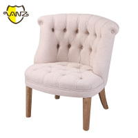 Upholstered Wooden French Style Leisure Chair
