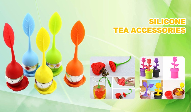 cute eco-friendly portable silicone tea infuser