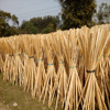 prefab log house plastic broom straw wooden broom sticks