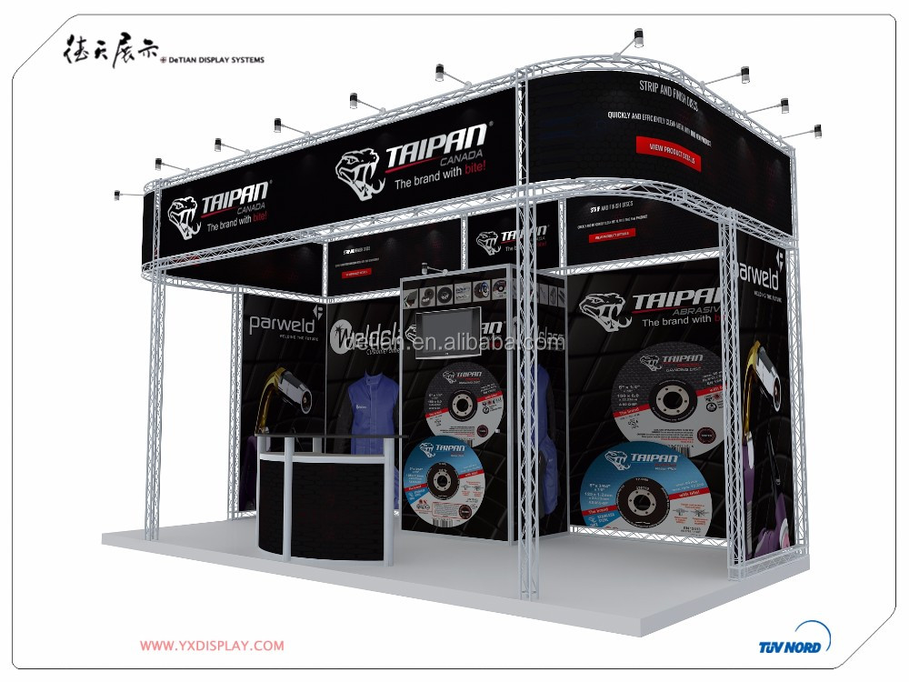portable exhibition stand design, truss exhibition display for tradeshow