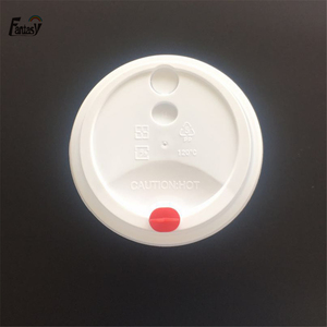 90mm plastic red heart arch coffee cup lid