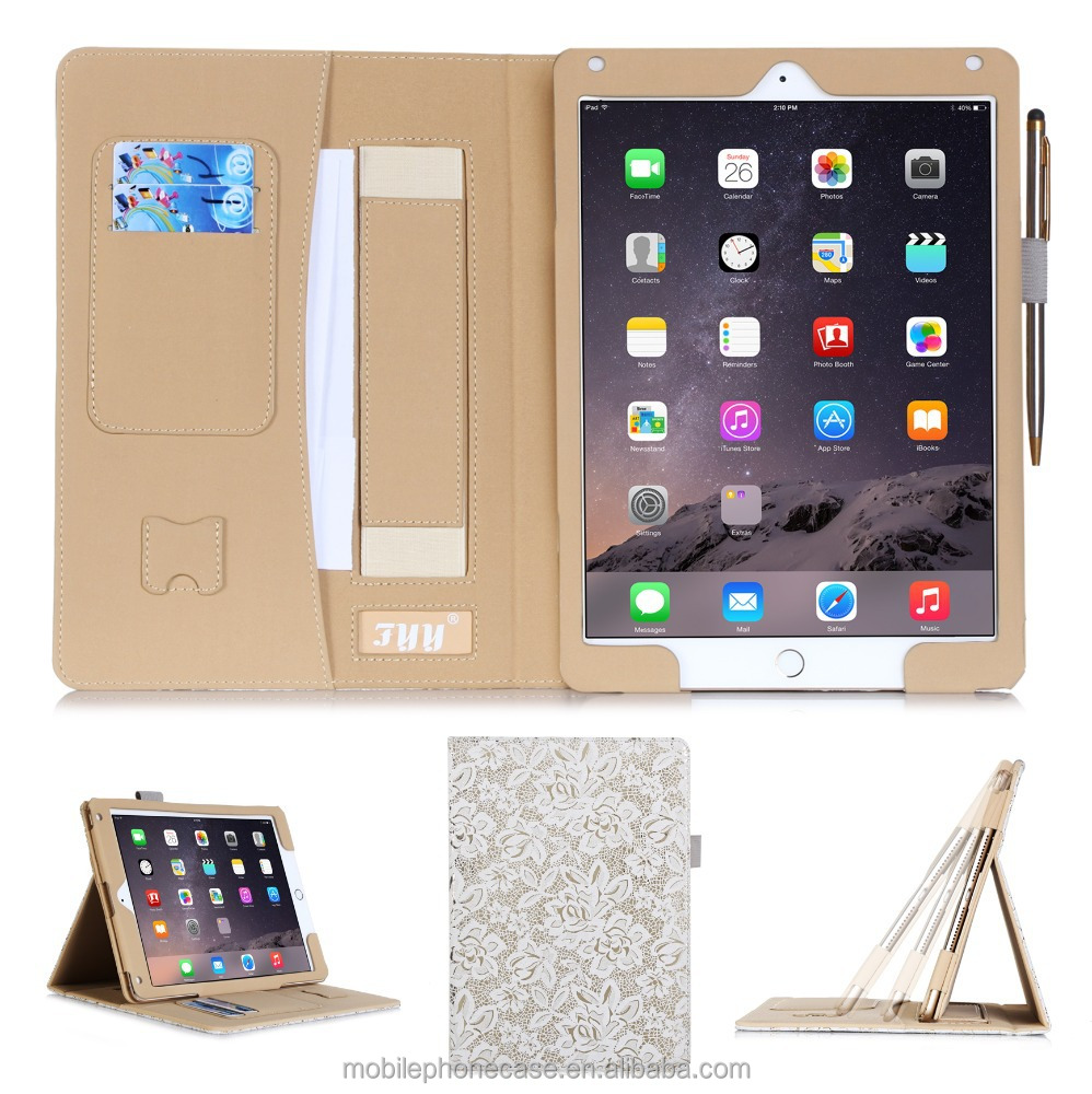 High Quality Fashion Anti-Shock Promotional PU Leather Tablet Case For Apple Ipad Air2