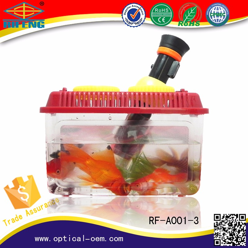 children toy microscope goldfish observe magnifier glasses