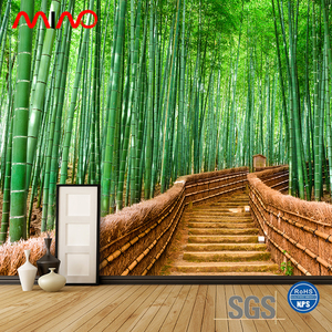 Natural scenery decoration inkjet print 3D design bamboo wallpaper
