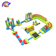 Giant Inflatable Water Park Floating, Inflatable Water Obstacle Course For Sale