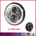 "Special 75W 7"" motorcycle led head light halo ring 7 inch round led headlights for Honda"