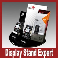 hot sale acrylic mobile phone display with 2 holder