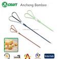 Color knotted natural bamboo skewer for christmas food